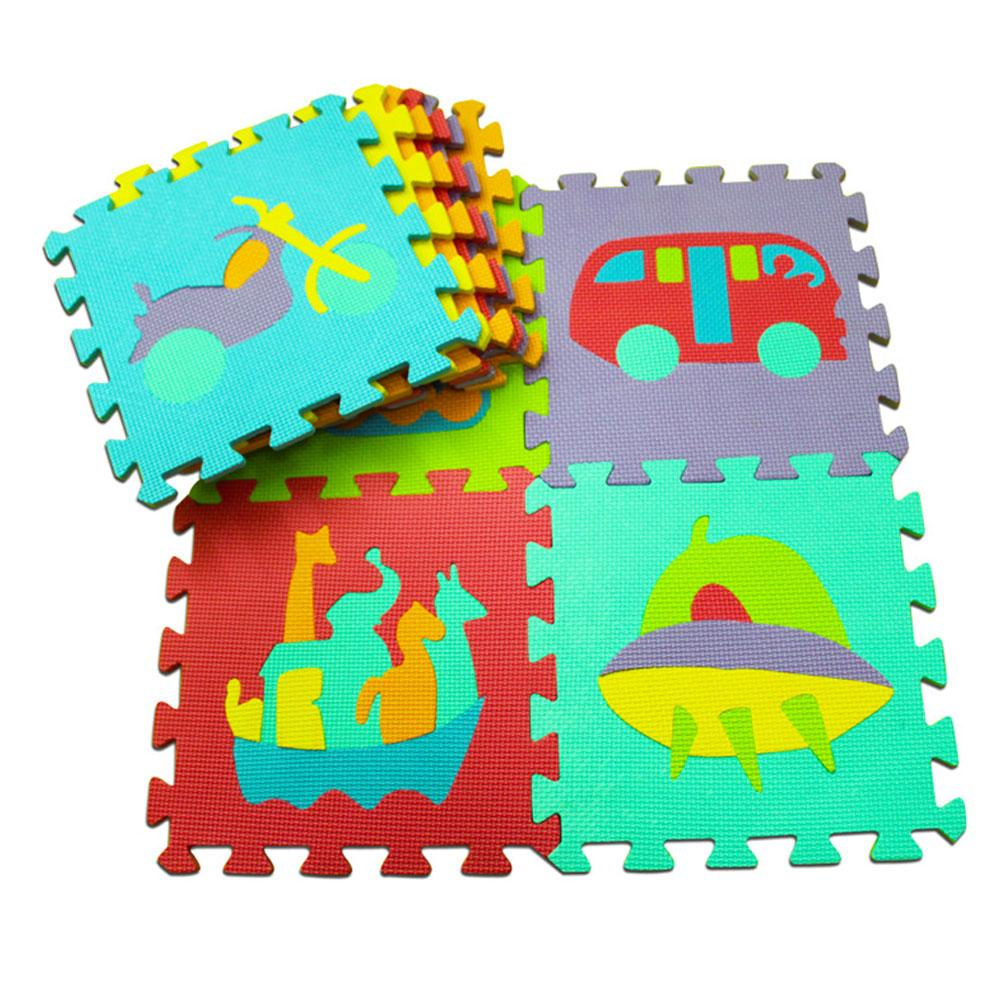 10Pcs/Set Baby Kids Crawling EVA Floor Mat Animal Fruit Numbers Puzzle Pad Toy New