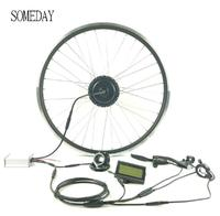 SOMEDAY Whole Waterproof Cable 36V 250W Electric Bicycle Conversion Kit Front Hub Motor Ebike Wheel with KT LCD5 LCD3 Display