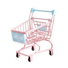 Металлическая мини корзина для супермаркета Настольная маленькая