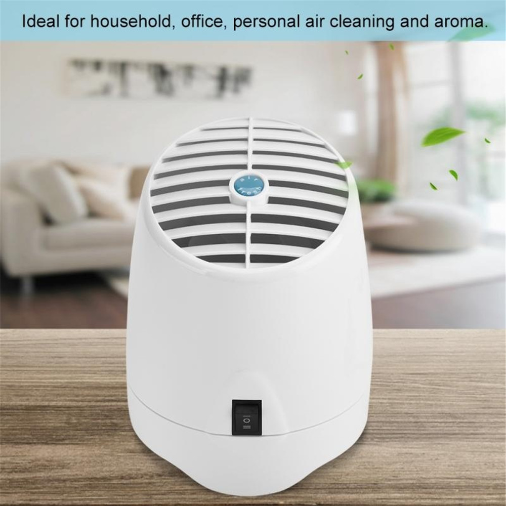 Air Purifier Portable Home Office LED Light Ozone Generator&Ionizer Anion Generator Aroma Air Cleaner For Sterilize Dust Smoke