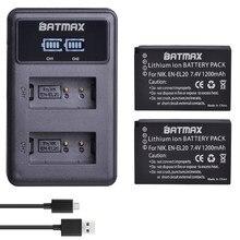 Batmax – batterie 1200mAh, EN-EL20 EN EL20 EN EL20a, avec LED, double chargeur USB, pour Nikon Coolpix P1000 Nikon1 J1, J2, J3 Nikon1 AW1