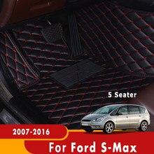 Alfombras para Ford s-max, Smax S Max, 2016, 2015, 2014, 2013, 2012, 2011, 2010, 2009, 2008, 2007, 5 asientos
