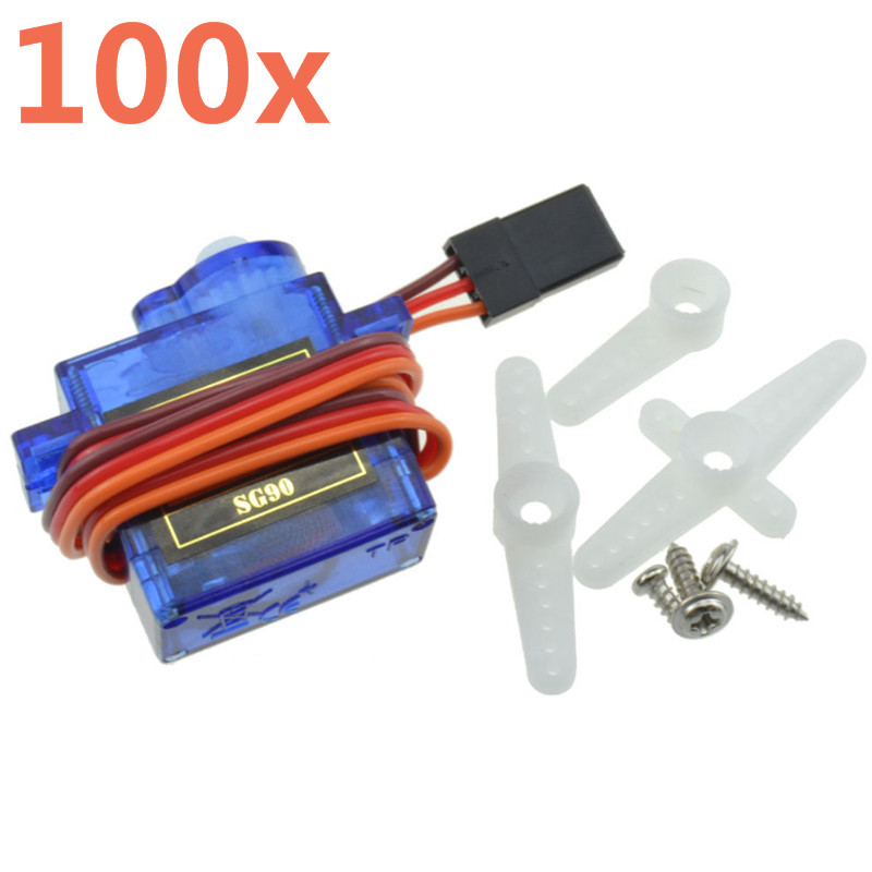 5pcs / 10pcs / 20pcs / 50pcs / 100pcs / 200pcs / 500pcs Lot SG90 SG 90 9G Mini Micro Servo For RC 450 Helicopter Airplane Car