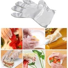 50/100 шт пластиковые перчатки одноразовые перчатки Ресторан Еда Перчатки фрукты овощи перчатки кухонные аксессуары