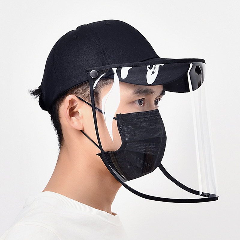 Adjustable Size Dustproof Hat Outdoor Anti-spitting Hat Visor Hat Protection Face Neck Cover Protective Full Mask Fisherman Cap