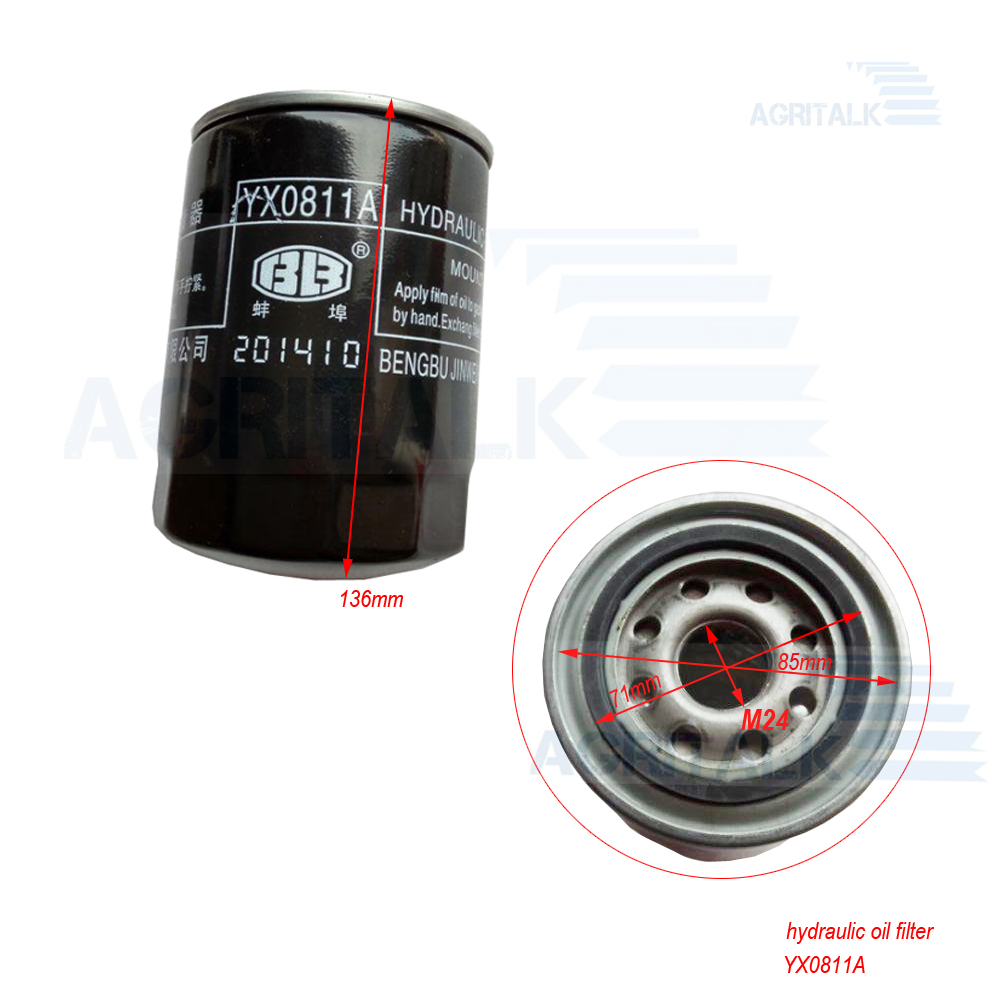 YX0811A , Hydraulic Oil Filter Element For Chinese Brand Harvester & Tractor
