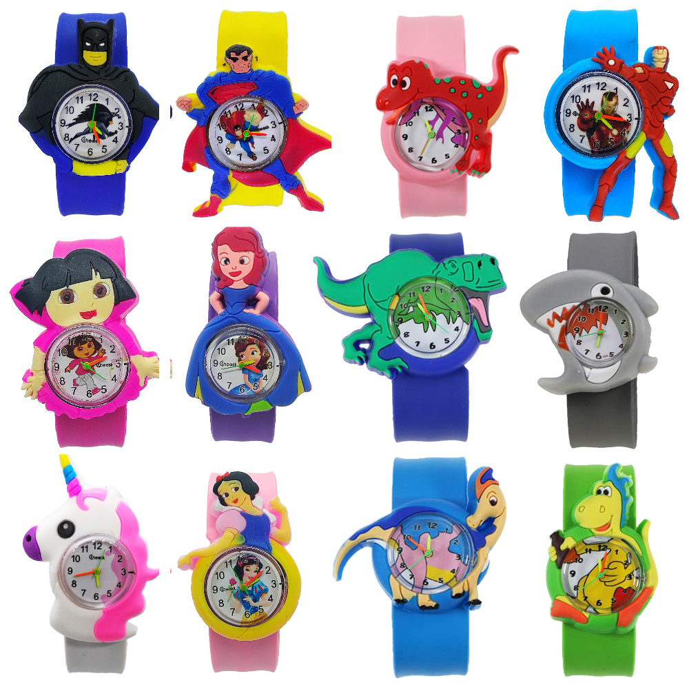 9 Kinds Of Animal Team Pony Watch For Children Kids Boys Girls Student Clock Spiderman Child Quartz Watch For Baby Birthday Gift