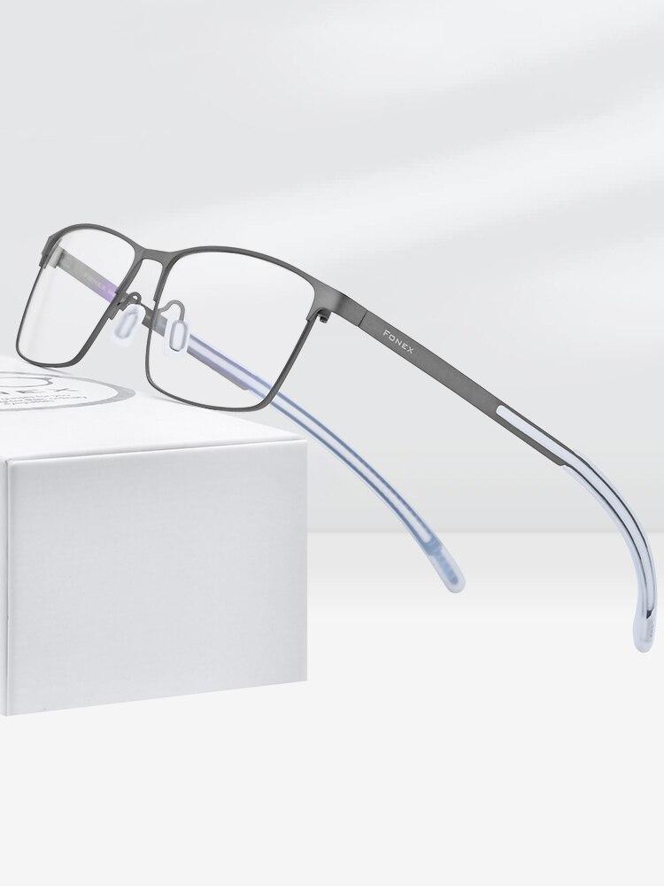 FONEX Eyeglass Frame Eyewear Myopia Optical-Prescription Silicone Pure Man Men Titanium