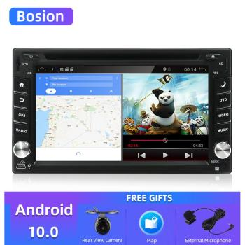 Bosion 2Din 6.2 inch Android 10.0 Quad Core Capacitive Touch Screen Car DVD Player GPS Navi Bluetooth Wifi FM Car radio stereo image