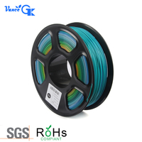 1KG 2.2LB 1.75mm Rainbow Gradient Multicolor PLA Filament 3D Printer Filament Materials for DIY 3D Printer FDM