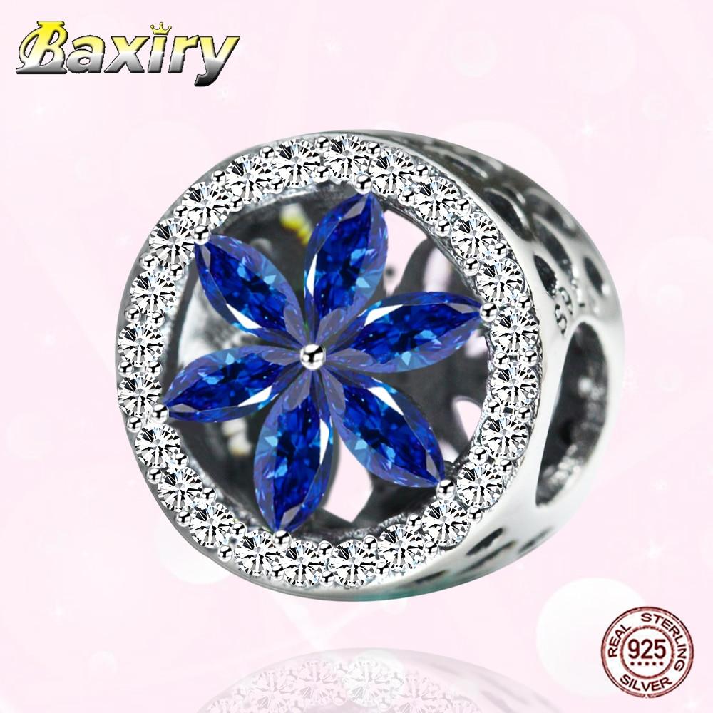 DIY Jewelry Making Openwork CZ Charm Beads 925 Sterling Silver Fit Pandora 925 Original Charms Bracelet Fine Bead 2020 New Style