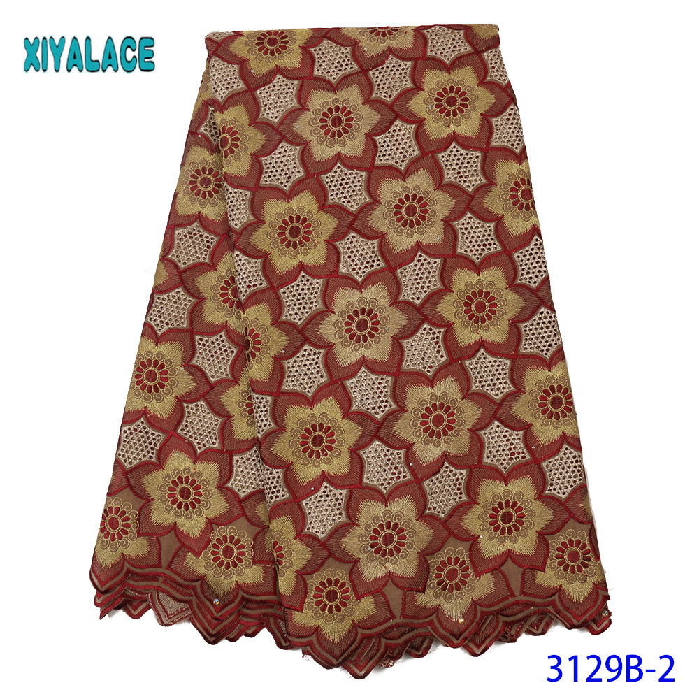 Luxury African Mesh Lace Fabrics 2019 High Quality Nigerian French Tulle Lace Stones Net Lace Fabric With Men And Women YA3129B2