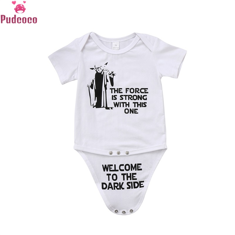 Casual Newborn Infant Clothes Printed Star Wars Baby Boys Bodysuit One Pieces Romper Jumpsuit Clothing 0-18M