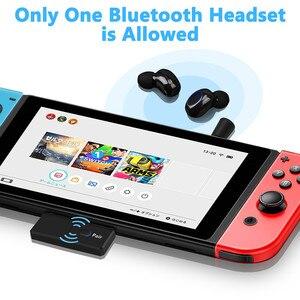 Image 5 - Bluetooth 5.0 émetteur Audio Dongle EDR A2DP SBC faible latence USB C type c adaptateur sans fil et micro pour Nintendo Switch PS4 TV PC