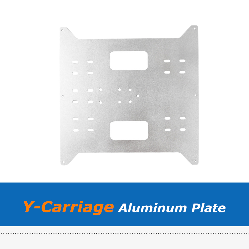 1pc Upgrade Y Carriage Aluminum Plate for Wanhao Duplicator i3 / Anycubic i3 Mega / Monoprice Maker Select 3D Printer image