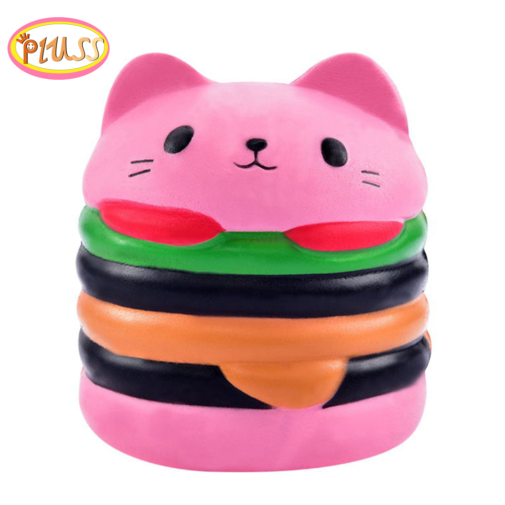 Kawaii Squishy Doll Animal Hamburger Burger Cat Bear Scented Slow Rising Kid Soft Squeeze Squish Pack Girl Toy China Doll House