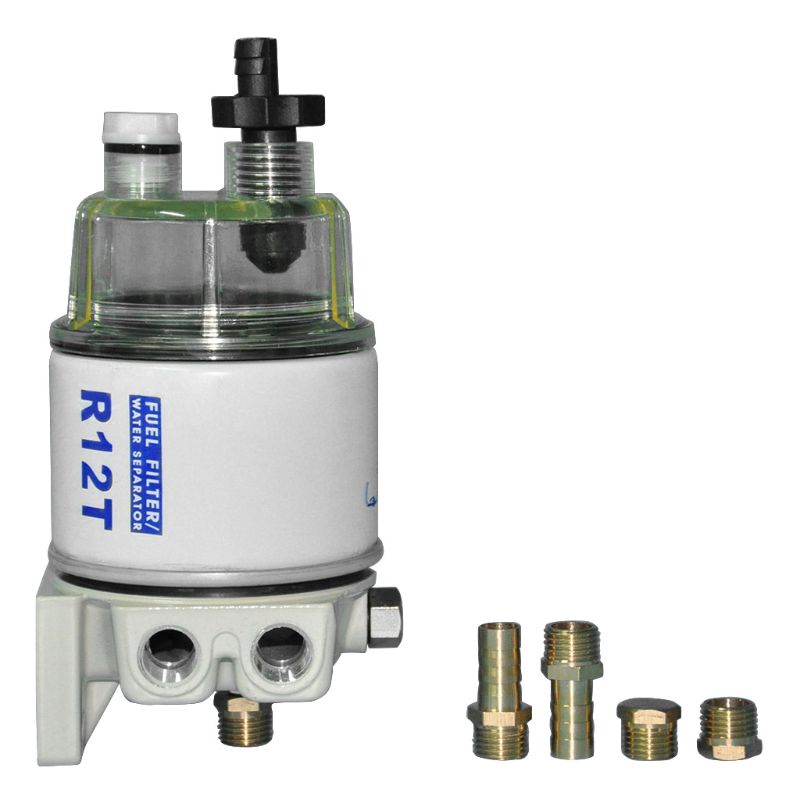 R12T Fuel Water Separator Filter Engine for 120AT Auto Parts Complete Combo Filter Cup