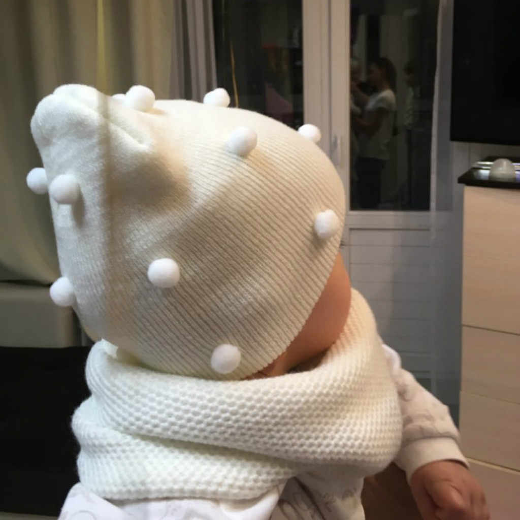 Children Baby Girl Boys Hat 2020 Winter Fashion Caps Pure Color Keeping Warm And Knitted Wool Hat Hairball Cap Шапки Детские