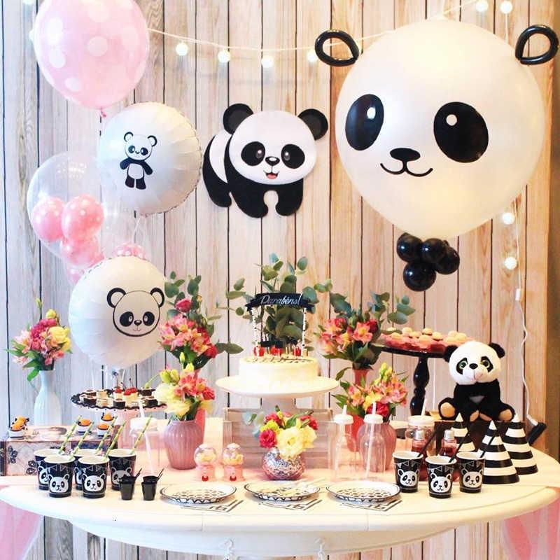 1 Set Leuke Panda Cartoon Ballonnen Brief Banner Garland Animal Kids Diy Gift Voor Baby Shower Gunsten Verjaardag Decoraties