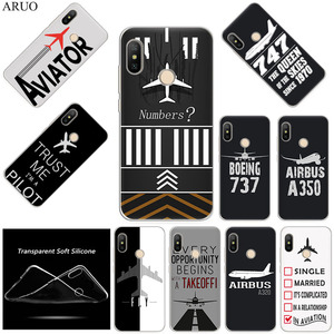 Airplane DIY Airstrip Number Silicone Phone Case For Xiaomi Mi Note10 CC9 8 8se CC9e A3 F1 X2 Redmi 10X 7a 8a 6a Note 8T 8 7 5 6(China)