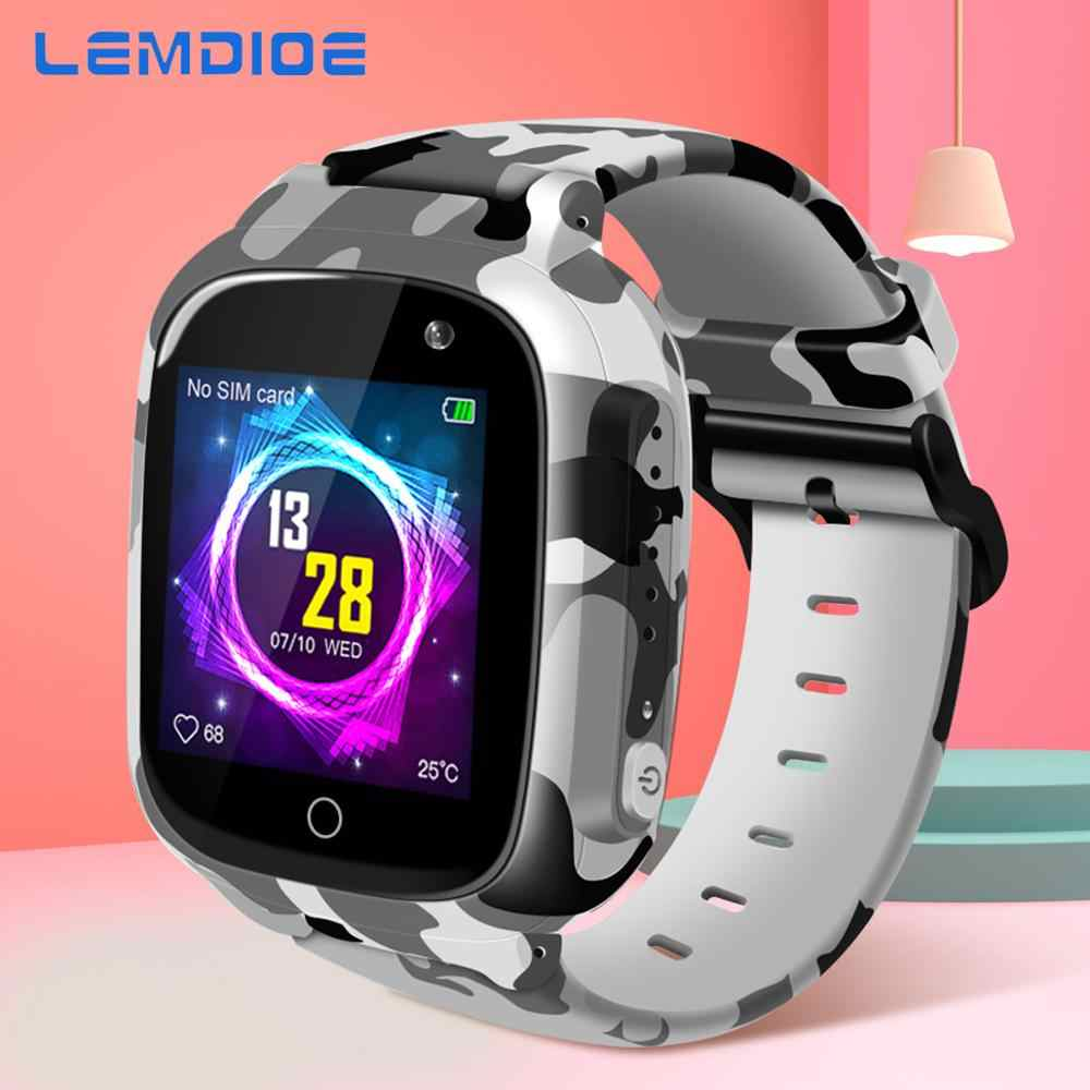 LEMDIOE 2019 600mAH Long standby time Kids smart watch baby with gps wifi sos IP67 waterproof for children