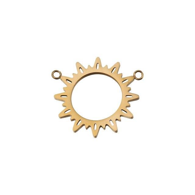 Фото 5 шт/лот подвеска из нержавеющей стали в форме солнца с золотым цена