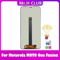 Pantalla LCD Original para Motorola One Fusion, montaje de digitalizador con pantalla táctil con marco para MOTO One Fusion, xt2073-2