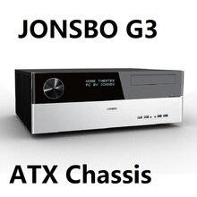 Jonsbo G3 HTPC plaine horizontale pour HTPC coque dordinateur USB3.0 argent ordinateur de bureau étui
