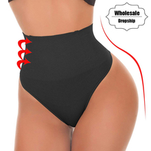 NINGMI Sexy Thong Shapewear Butt Lifter Women High Waist Trainer Tummy Control Panties Knicker Slimming Underwear Cincher Girdle