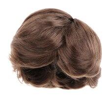 1/4 BJD poupée cheveux courts bouclés brun perruque 8-9 pouces 18-20cm pour DOD AOD DOC Dollfie DK-bleu accessoires