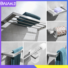 Bathroom Towel Holder Stainless Steel Towel Rack Hanging Holder Towel Bar Coat Hook Rack Toilet Paper Holder Shower Soap Holder все цены