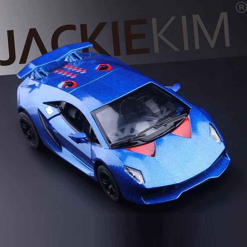 High Simulation Exquisite Collection Model Toy: KiNSMART Car Styling Sesto Elemento Supercar 1:38 Alloy Car Model Pull Back Cars