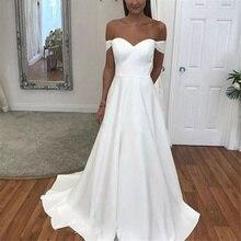 Elegant And Concise V-neck Shoulder Strap Wedding Dress Beach Retro Beige Belt Wedding Dress