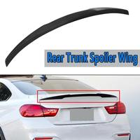 Rear Trunk Spoiler Wing For BMW 4 Series F32 F82 2014 17 M4 Style ABS Plastic Black Rear Wing Spoiler Rear Trunk Roof Wing 120cm