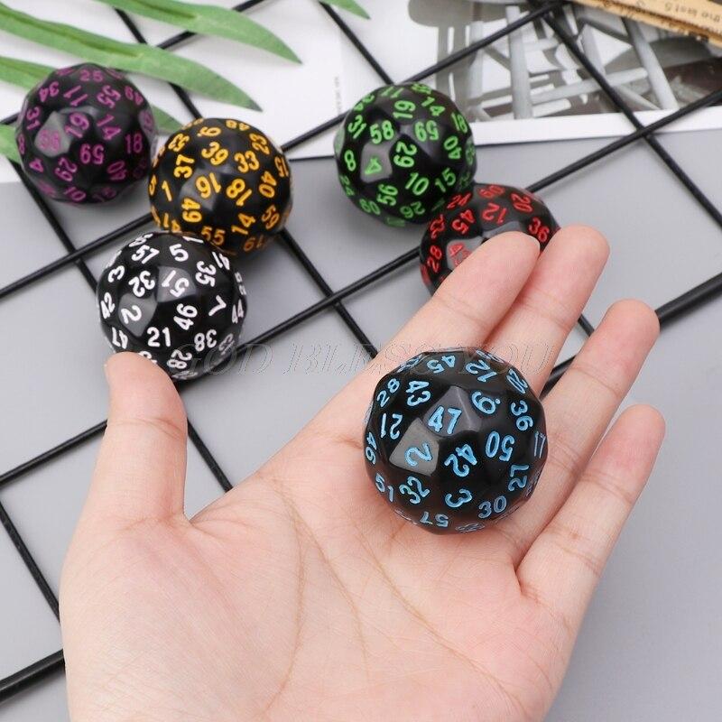 6Pcs 60 Seitige D60 Polyhedral Würfel Für Casino D & D RPG MTG Party Tisch Brettspiel Drop Verschiffen