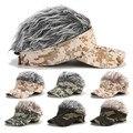 Мужская и женская кепка для гольфа камуфляжной расцветки с имитацией теней для волос  регулируемый головной убор для кемпинга  туризма  спо...