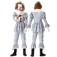 HISTOYE The Horror Movie Stephen Kings It Costume It: Chapter Two Clown Pennywise Clothing for Men Halloween Party