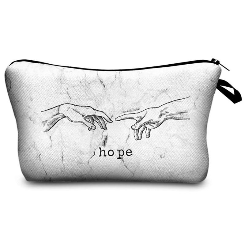 Marble Pattern Travel Cosmetic Makeup Bag Toiletry Case Storage Pouch Organizer