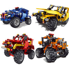 2019 NEW Storm Racing series Off-road cross country SUV rc car mdoel building blocks Educational Assembled children car toys(China)