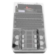 حافظة بطاريات 104 شبكة سميكة ودائمة عالية الدقة حاوية صندوق حامل حقيبة البطارية مع جهاز اختبار بطارية