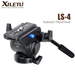 XILETU LS-4 Handgrip Video Photography Fluid Drag Hydraulic Tripod Head and Quick Release Plate For Manfrotto