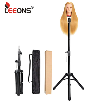 Leeons Professional Tripod For Wigs Tripod Stand For Mannequin Head Black Adjustable Mannequin Tripod Stand For Wig Head Stretch стойка для акустики elac stand ls 50 satin black