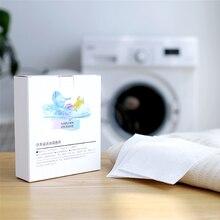 Pano absorvente da cor do favo de mel da nanotecnologia da folha absorvente da mancha da lavanderia não-tecido do algodão láminas para lavar ropa