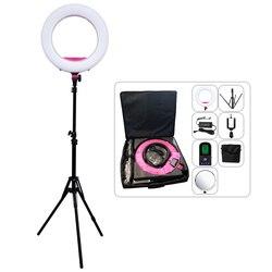 Yidoblo AX-480EII 5500K Warm & Cold Bio-color Camera Photo/Studio/Phone/Video 18 240 LED Ring Light LED Lamp Makeup Ring lamp