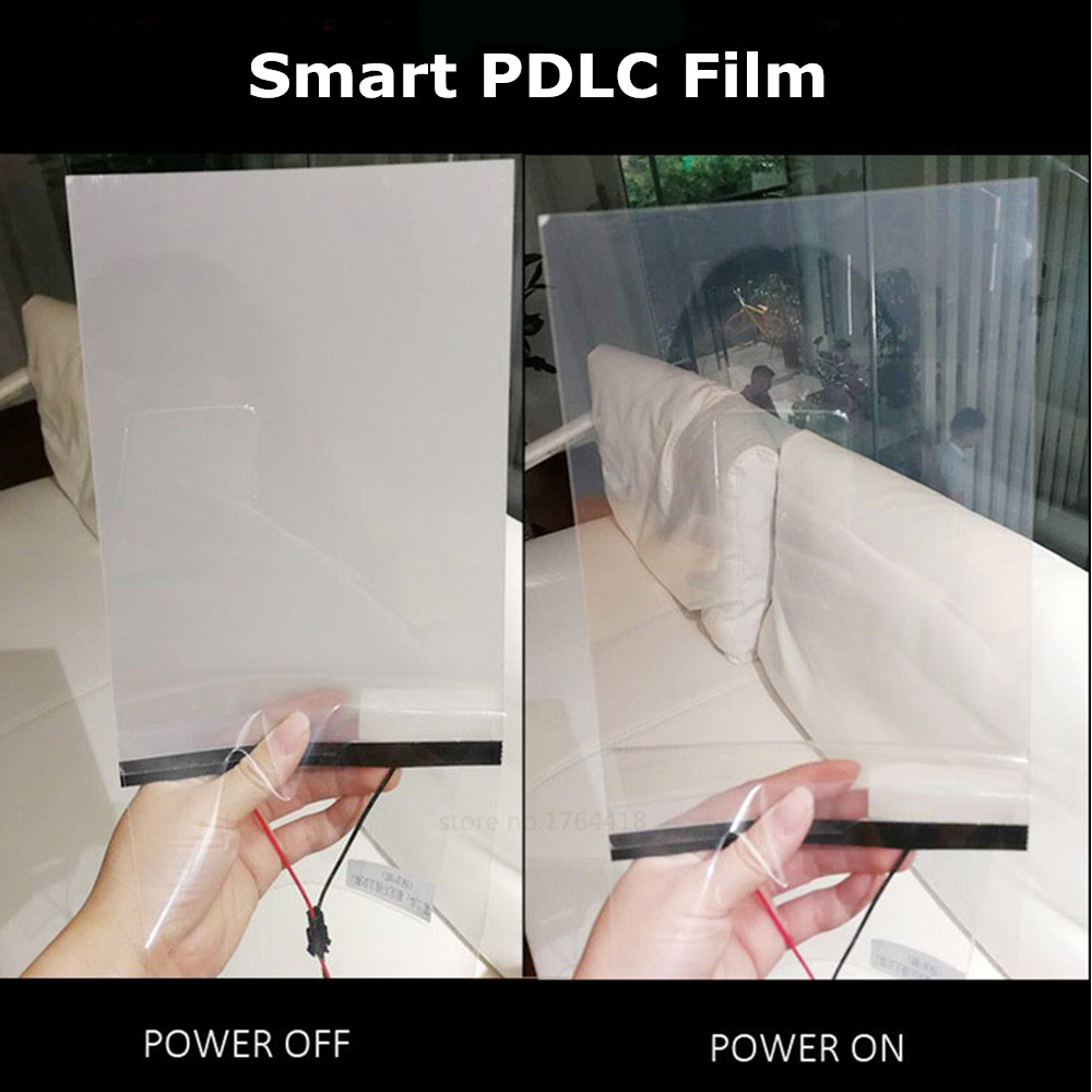 Electric Self-adhesive Smart PDLC Dimming Film A4 Size Sample 21*29cm Glass Window Door Tint Home Cinema Meeting Room Smart Film