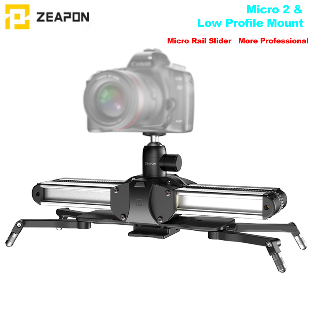 Zeapon Micro 2 Rail curseur en alliage d'aluminium léger Portable pour reflex numérique et appareil photo sans miroir avec support Easylock 2 profil bas