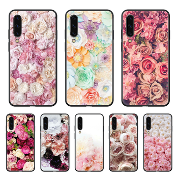 Beautiful Rose Flower Phone case hull For Samsung Galaxy A 50 51 20 71 70 40 30 10 E 4G S black funda painting waterproof trend image