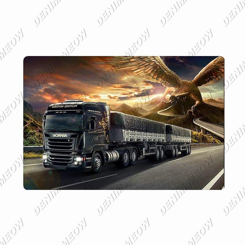 Металлическая вывеска Scania, винтажная жестяная вывеска для тяжелых грузовиков, ретро настенный художественный плакат для гаража, бара, паба,...