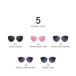 Image 4 - MERRYS تصميم النساء الفاخرة العلامة التجارية القط العين النظارات الشمسية السيدات موضة نظارات شمسية مستقطبة UV400 حماية S6139