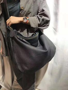 MESOUL Large Capacity Women Shoulder Bags Genuine Leather Handbag Female Messenger Bags Casual Cowhide Crossbody Shopping Bag